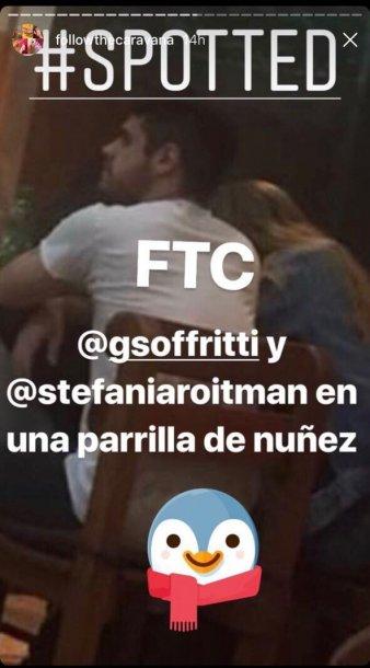 Gastón y Stefanía, infraganti.