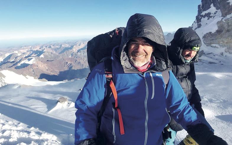 Hizo cumbre en el Aconcagua