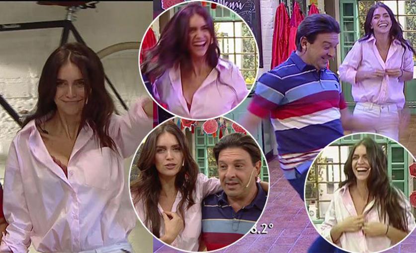 La camisa no resistió el baile (foto: Ciudad.com)