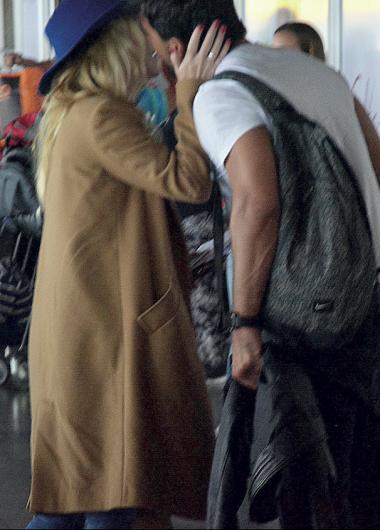 Chape en el aeropuerto
