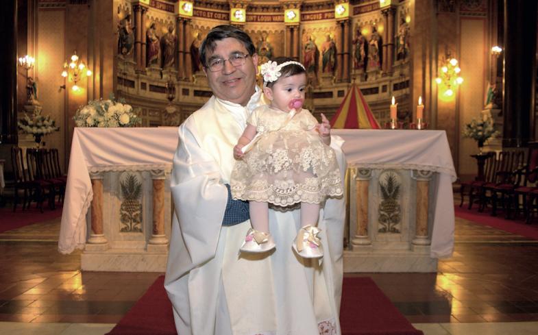 El bautismo de Malú