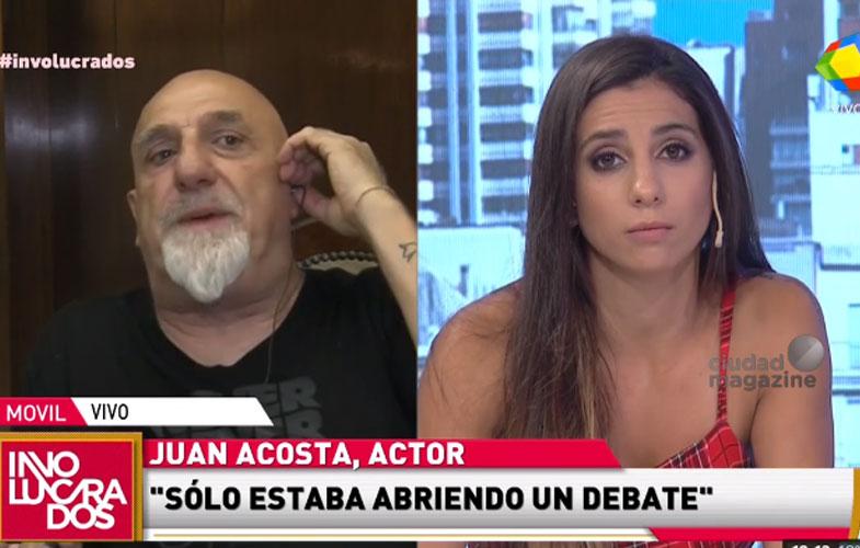 Juan Acosta vs. Cinthia Fernández.