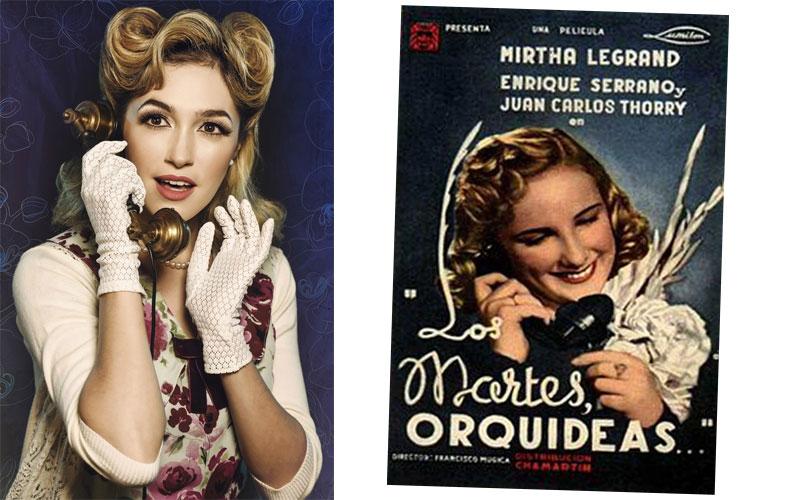 Candela Vetrano al teléfono, en la misma pose que Mirtha.