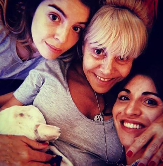 Giani y Dalma, bien cerca de Claudia.