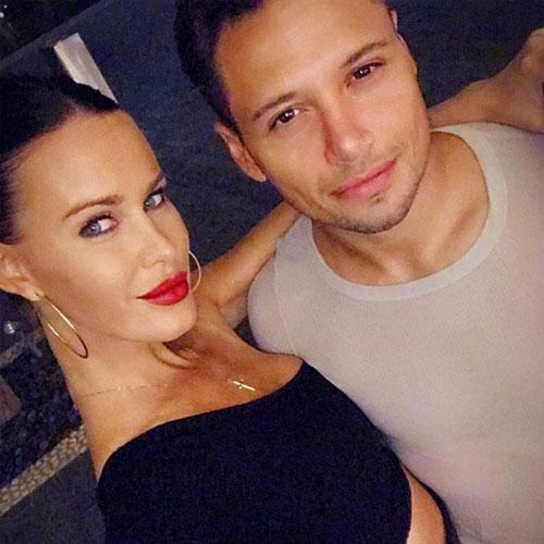 Natalie Weber y Mauro Zárate, en un mal momento.