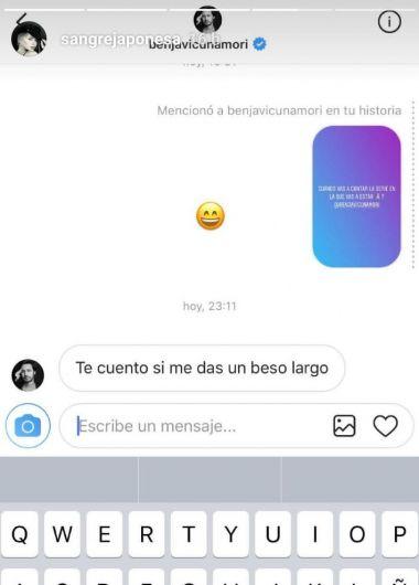 La pícara respuesta de Benja