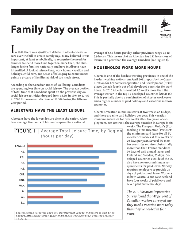 Family Day on the Treadmill