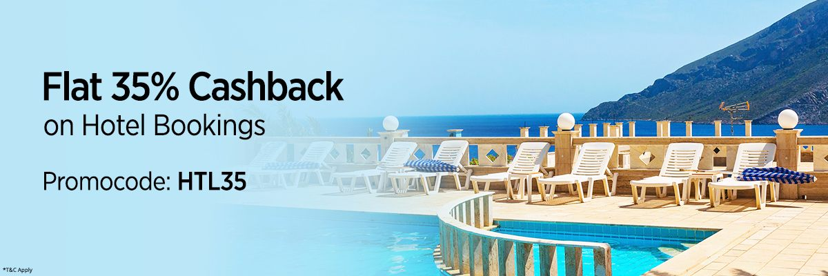 Flat 35% Cashback upto INR 5000 on Hotel Bookings @ Paytm – Travel