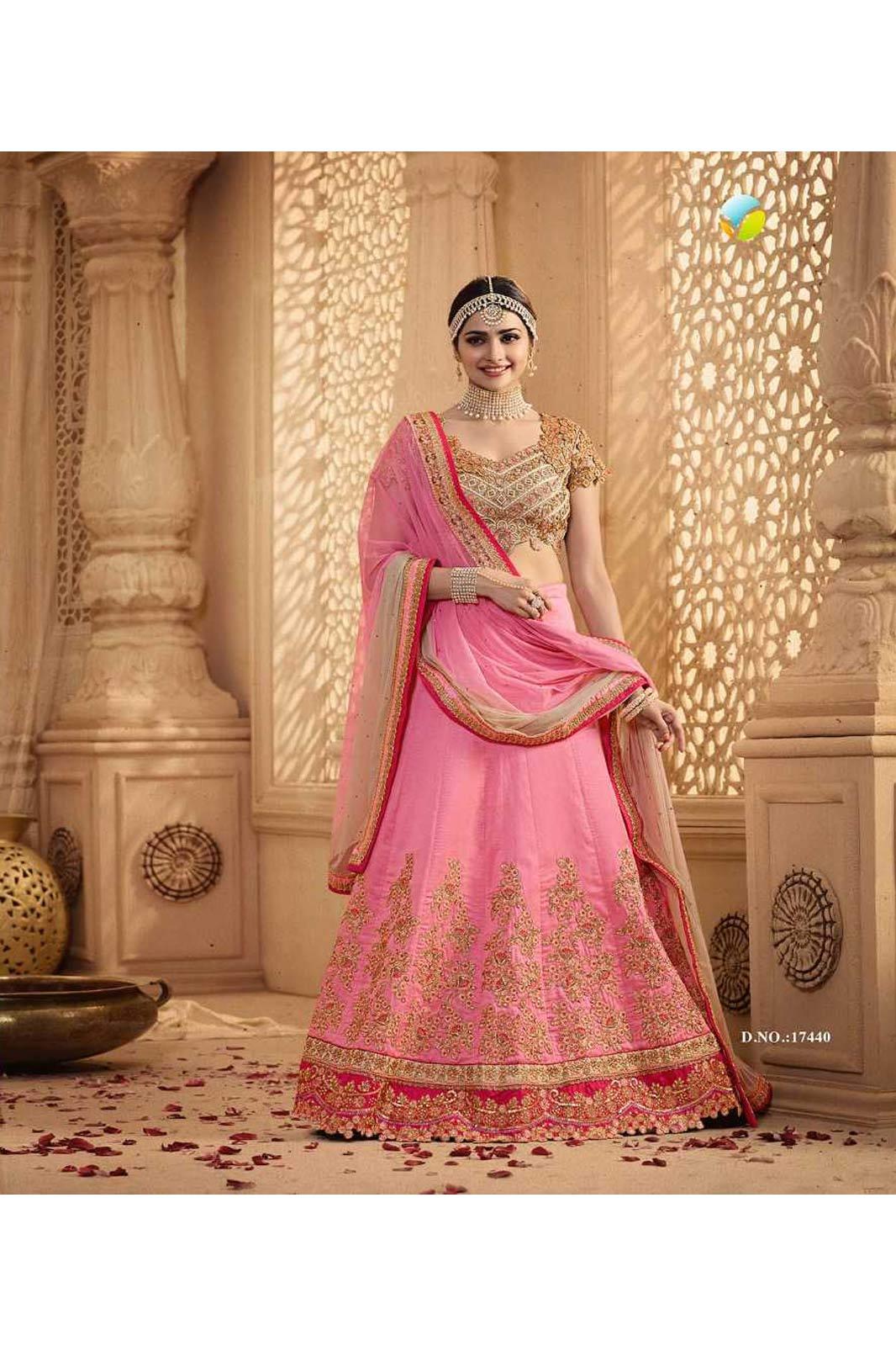 Pink color lehenga prachi desai