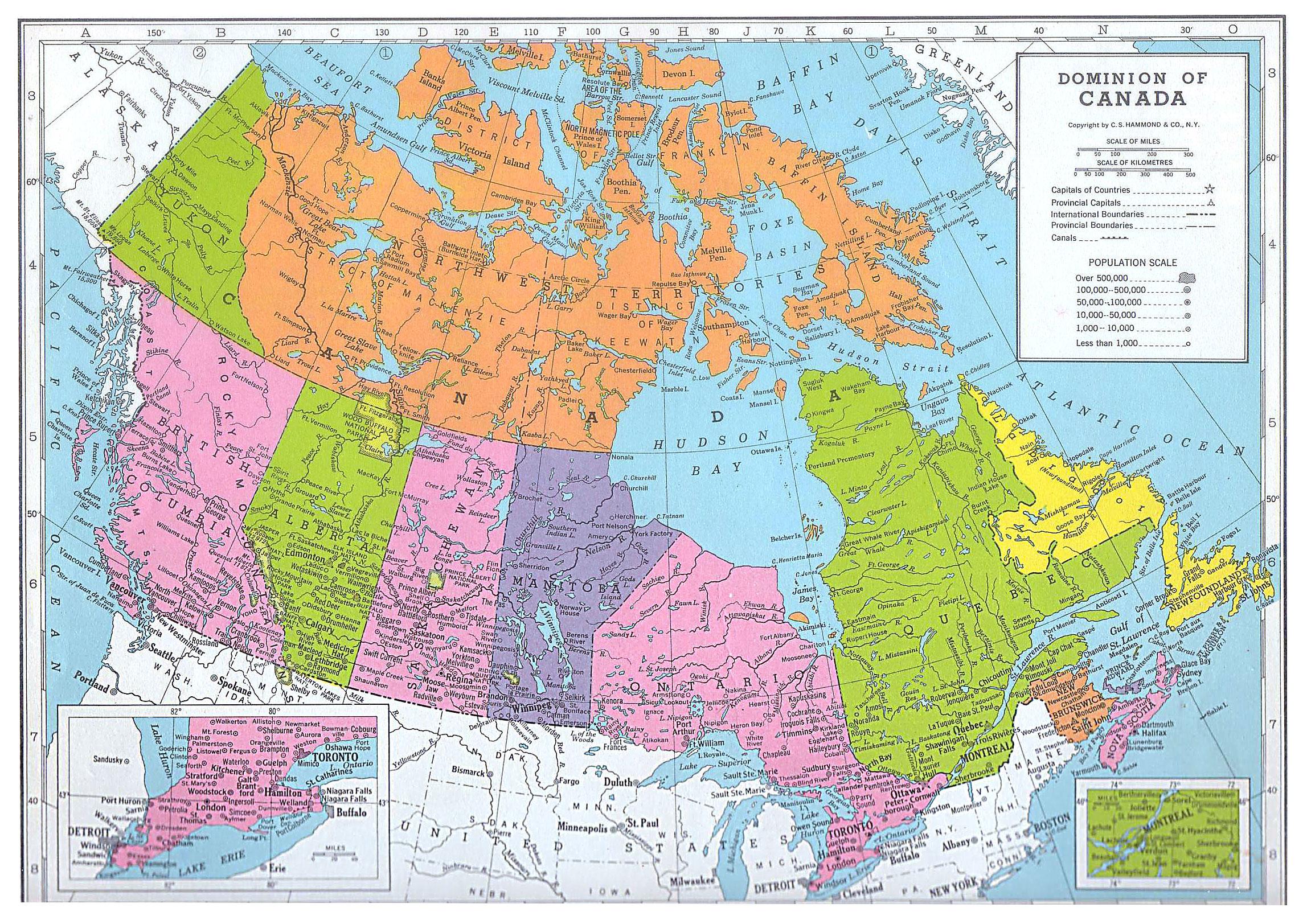 Canada Map (1949) - Philatelic Database