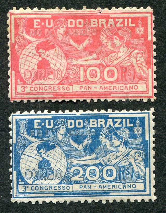 Stamps of Brazil: Pan-American Congress (1906)