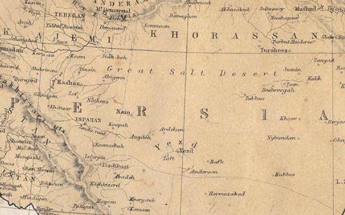 map of persia and afghanistan 1871