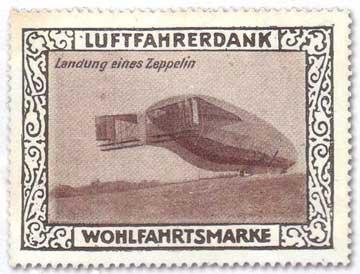Zeppelin Stamps: German Gasbags