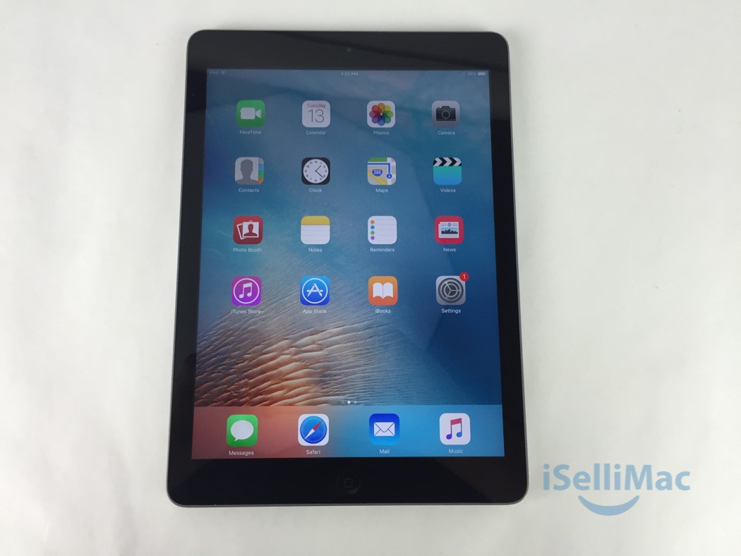 apple ipad air wifi 32gb space gray md786ll a b grade. Black Bedroom Furniture Sets. Home Design Ideas