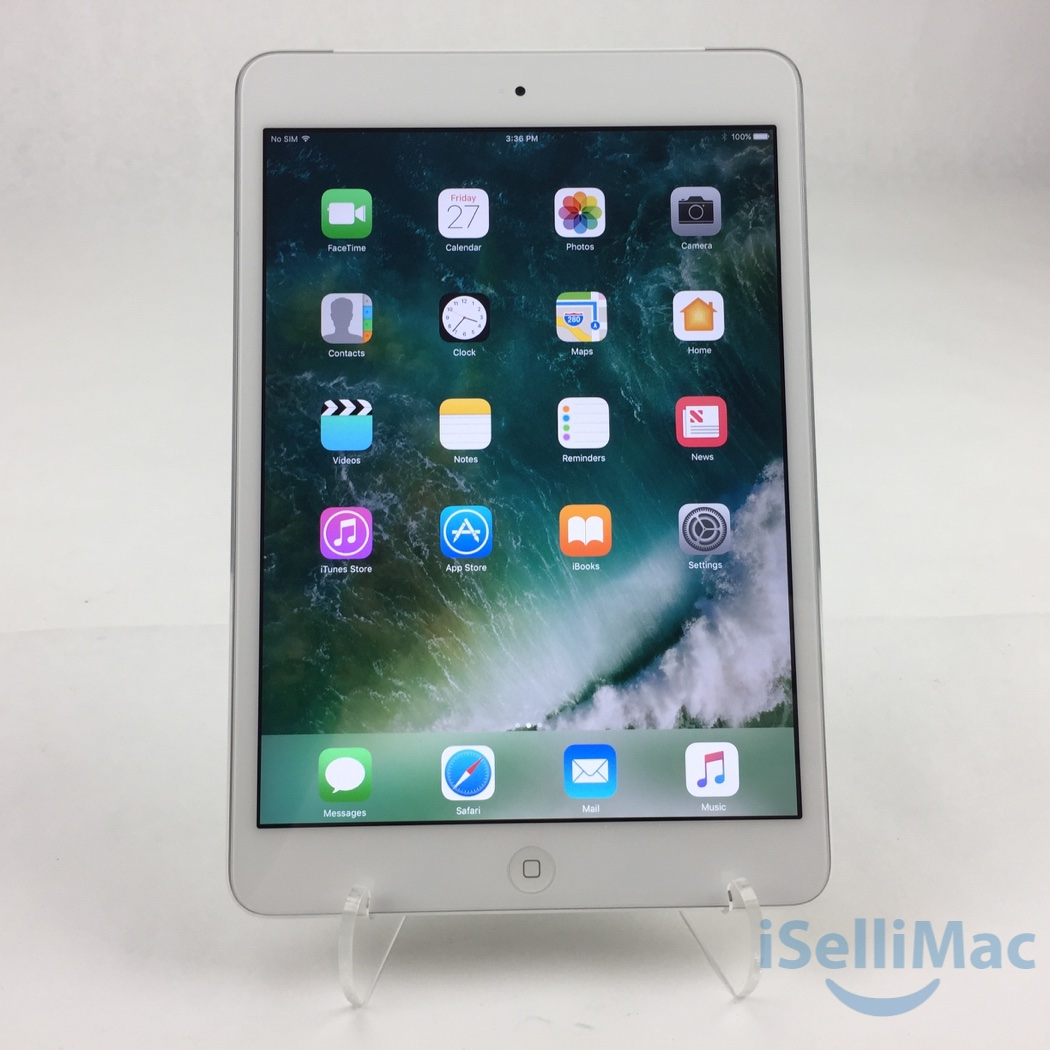 apple at t ipad mini retina wifi cellular 32gb silver. Black Bedroom Furniture Sets. Home Design Ideas
