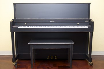 Baldwin Hamilton studio acoustic upright piano ebony satin black used for sale rent rental gilbert mesa arizona phoenix my first gallery az