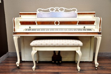 Baldwin Acrosonic acoustic upright piano white cream used for sale rent rental gilbert mesa arizona phoenix my first gallery az chandler scottsdale flagstaff tucson