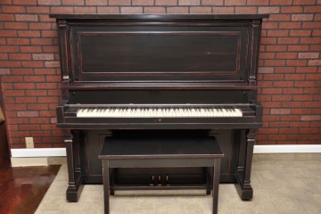 Decker & Sons antique acoustic upright piano ebony satin black used for sale rent rental gilbert mesa arizona phoenix my first gallery az