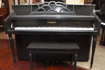 Kohler and Campbell console acoustic upright piano ebony satin black used for sale rent rental gilbert mesa arizona phoenix my first gallery az