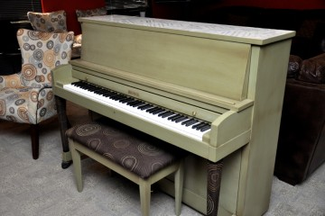 Baldwin green decoupage studio acoustic upright piano used for sale rent rental chandler tempe scottsdale gilbert mesa arizona phoenix my first gallery az