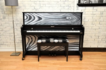 Baldwin studio acoustic upright piano ebony satin black used for sale rent rental gilbert mesa arizona phoenix my first gallery az