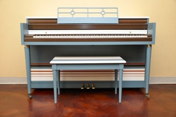 Piano revival project Kimball spinet upright piano Ocean Pacific