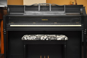 Yamaha console acoustic upright piano ebony satin black used for sale rent rental gilbert mesa arizona phoenix my first gallery az