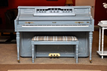 Kimball shabby chic blue DIY distressed console acoustic upright piano used for sale rent rental gilbert mesa arizona phoenix my first gallery az