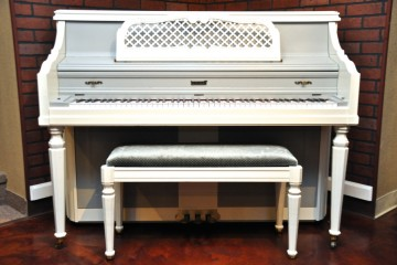 Kimball console painted piano refinished piano store in phoenix