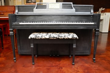 Hobart Cable console acoustic upright piano ebony satin black used for sale rent rental gilbert mesa arizona phoenix my first gallery az