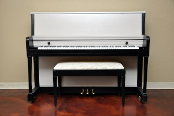 Everett studio acoustic upright piano ebony satin black used for sale rent rental gilbert mesa arizona phoenix my first gallery az