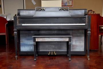 Used piano mesa, artist painted piano, refinished piano, piano mesa