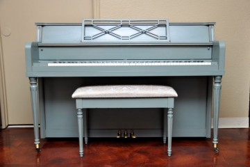 Hobart Cable Console Piano Shabby Chic Blue Annie Sloan Chalk Paint Piano