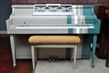 Kimball console refinish stripes modern cool DIY acoustic upright piano used for sale rent rental gilbert mesa arizona phoenix my first gallery az