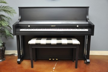 Kimball studio acoustic upright piano ebony satin black used for sale rent rental gilbert mesa arizona phoenix my first gallery az