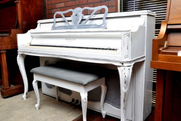 used piano mesa, Piano Revival Project, artist painted piano, refinished piano, piano mesa