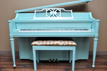 Kohler and Campbell console acoustic upright piano used for sale rent rental chandler tempe scottsdale gilbert mesa arizona phoenix my first gallery az