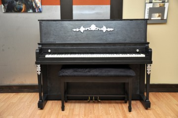 Kohler and Campbell studio acoustic upright piano ebony satin black used for sale rent rental gilbert mesa arizona phoenix my first gallery az