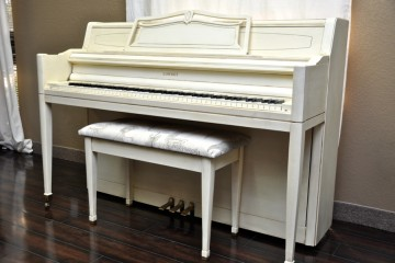 Lowery console white acoustic upright piano used for sale rent rental chandler tempe scottsdale gilbert mesa arizona phoenix my first gallery az