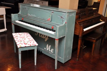 Yamaha blue studio acoustic upright piano used for sale rent rental gilbert mesa arizona phoenix Scottsdale Glendale Surprise Tempe my first gallery az