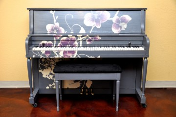 Estey blue studio acoustic upright piano used for sale rent rental gilbert student teacher lessons private mesa arizona phoenix my first gallery az