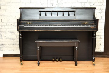 Baldwin Console acoustic upright piano ebony satin black used for sale rent rental gilbert mesa arizona phoenix my first gallery az