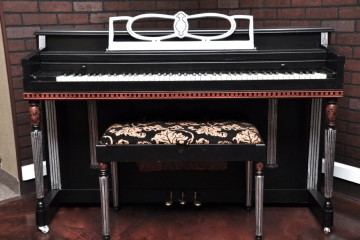 Winter & Company spinet acoustic upright piano ebony satin black used for sale rent rental gilbert mesa arizona phoenix my first gallery az