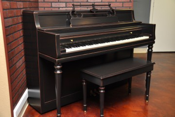 Wurlitzer console acoustic upright piano ebony satin black used for sale rent rental gilbert mesa arizona phoenix my first gallery az