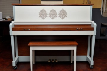Baldwin studio acoustic upright piano custom refinish art artwork cool classy used for sale rent rental gilbert mesa chandler scottsdale Higley Queen Creek Tempe arizona phoenix my first gallery az