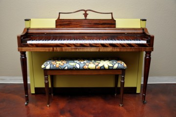Wurlitzer spinet retro retroactive 60's 1960's Love Peace Hippy  acoustic upright piano used for sale rent rental gilbert mesa arizona phoenix my first gallery az