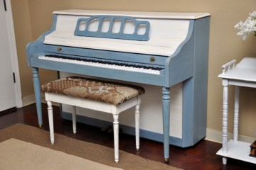 Sherman Clay console northeast cape cod blue white studio acoustic upright piano used for sale rent rental gilbert mesa arizona phoenix my first gallery az
