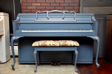 used story & Clark, Blue piano, Mesa Used Piano, Painted piano, Collector piano