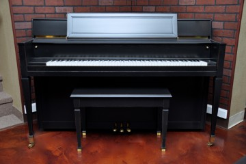 Story and Clark console upright piano for sale ebony satin used arizona az gallery