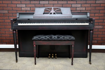 Wurlitzer spinet acoustic upright piano ebony satin black used for sale rent rental gilbert mesa arizona phoenix my first gallery az